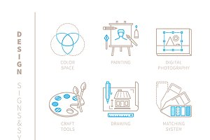 Graphic design iconset