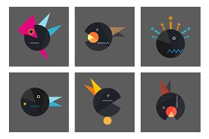 Set geometry abstract template Vol.3