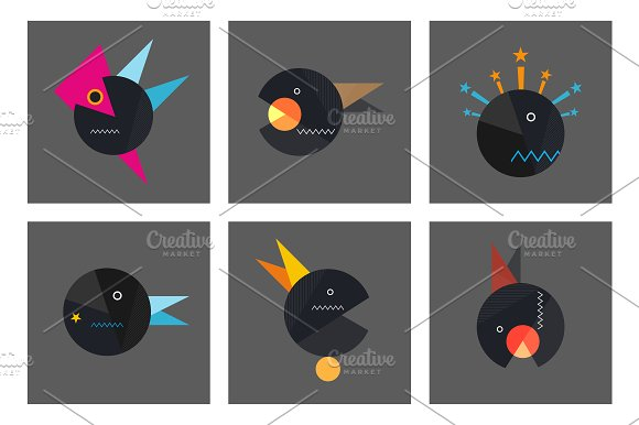 Set geometry abstract template Vol.3 - Cards