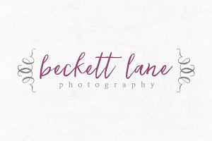 Beckett Lane Premade Logo Template