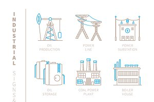 Industrial lineart iconset