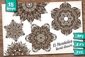 15 Henna Mandalas