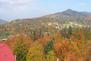 Autumn Carpathian mountains