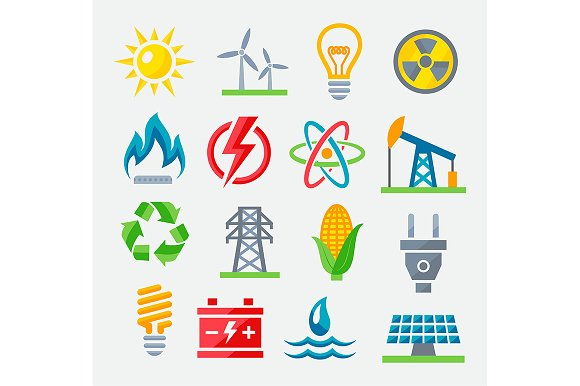 Energy colorful icons