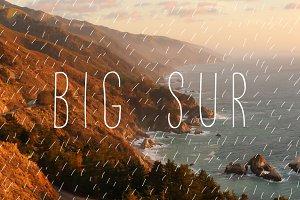 Big Sur — Light Font