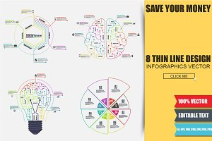 Thin Line Business Infographics