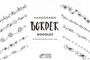 Floral Borders - Handdrawn Doodles