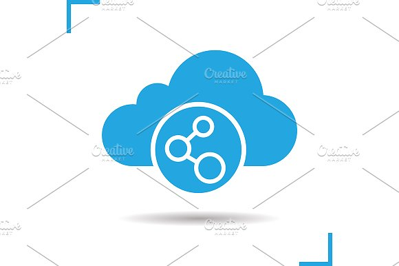 Cloud storage connection. Vector - Icons