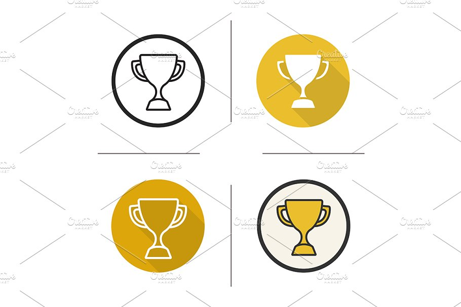 Sport trophy. 4 icons. Vector in Icons - product preview 8