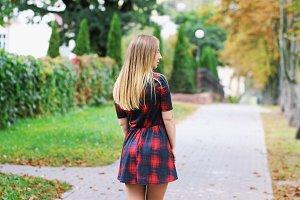 Girl on street