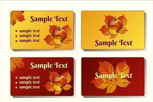 Autumn cards and symbols