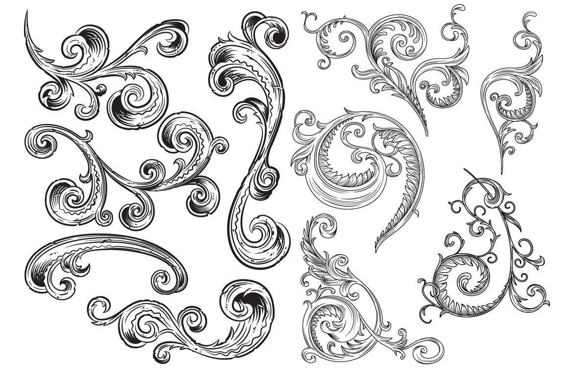 Victorian Ornaments Vector Pack ~ Illustrations ~ Creative