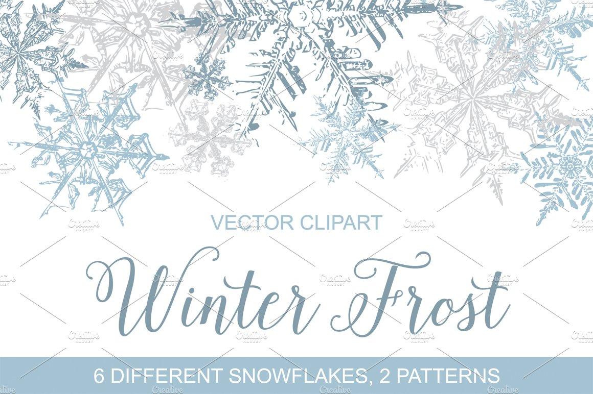 Vintage Snowflakes Vector Clipart