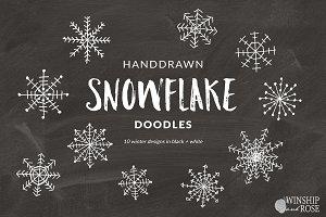 Snowflake Clip Art Doodles
