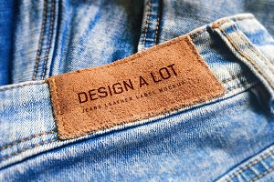 Engraved Brown Leather Label