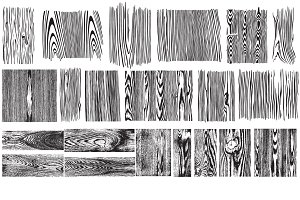 Wood Grain Vector Pack