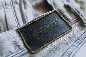 Engraved Dark Brown Leather Label