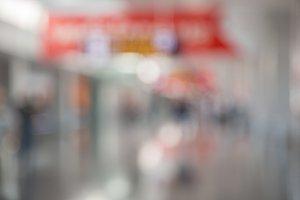 Blur airport background