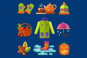 Autumn Symbols Icons Set