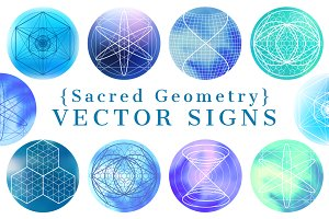 {Sacred Geometry} Vector SIGNS
