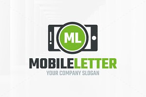 Mobile Letter Logo Template