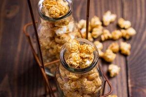 Popcorn in bottles