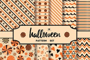 10 seamless Halloween patterns