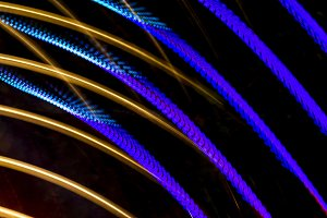 Traces of colored lights