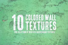10 Colored Wall Textures