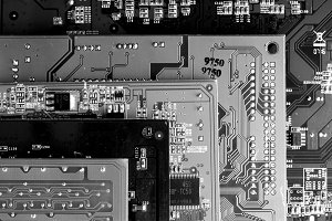 Black And White Circuit Boards