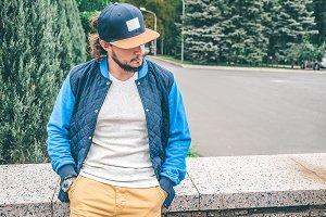 Baseball cap and t-shirt Mockup