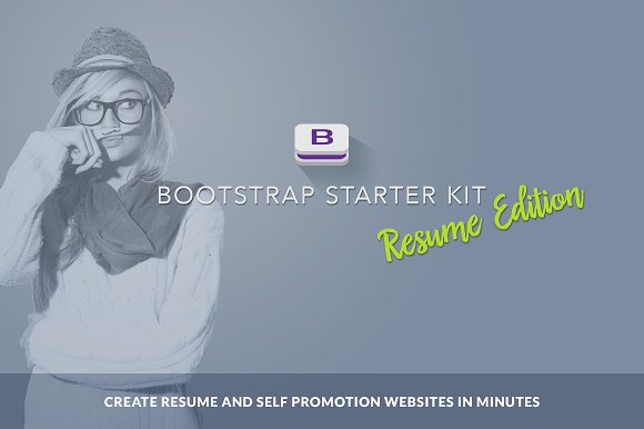Bootstrap Starter Kit Resume Edition ~ Bootstrap Themes ~ Creative ...