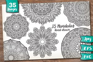 35 Decorative Mandalas
