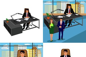 set of business people concepts,