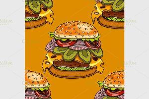 cartoon style hamburgers