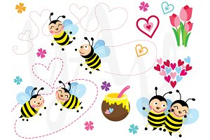 Love Bee Clip Art