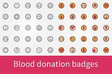 Blood donation badges
