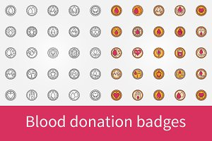 Blood donation badges