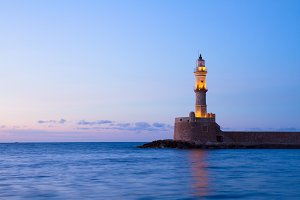 lighthouse of Chania, Crete, Greece