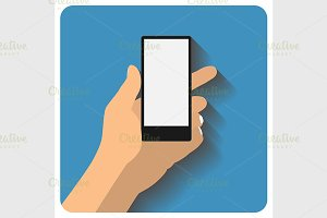 Hand holing smartphone