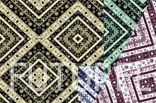 4 Ethnic square pattern .