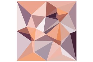 Almond Beige Abstract Low Polygon