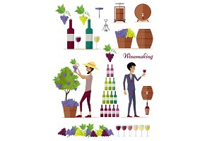 Winemaking Icon Set