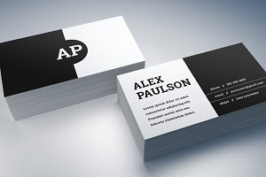 Black/White Business Card Design 008