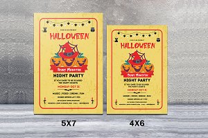 Halloween Party Flyer Template-V394