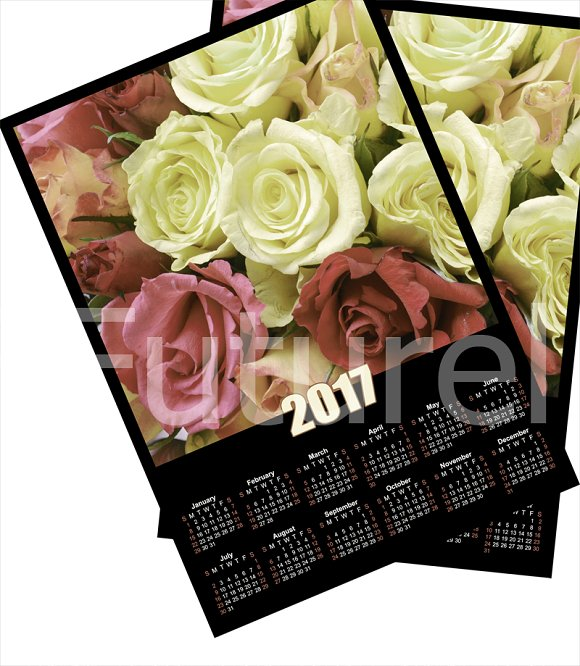 Calendar 2017 .Roses. - Objects
