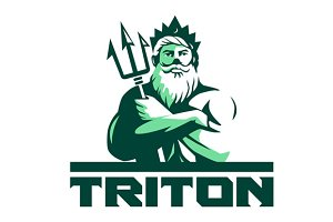 Triton Arms Crossed Trident Front