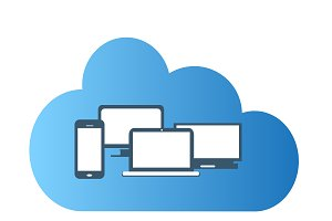 Cloud computing technology flat