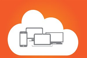 Cloud computing orange color