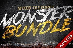 64% Off Mixed Texture Monster Bundle